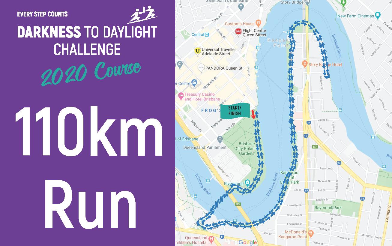 110km Run Map